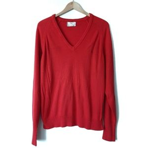 Dior Sweaters - Christian Dior Vintage V-Neck Red Sweater USA